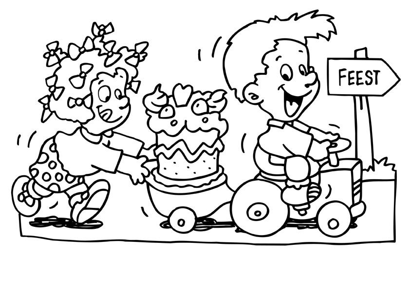 kleurplaat 50 jaar vrouw verjaardag 18 handlettering ts