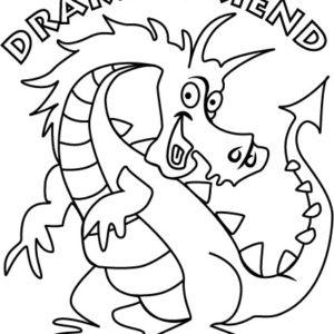 drakenkleurplaat